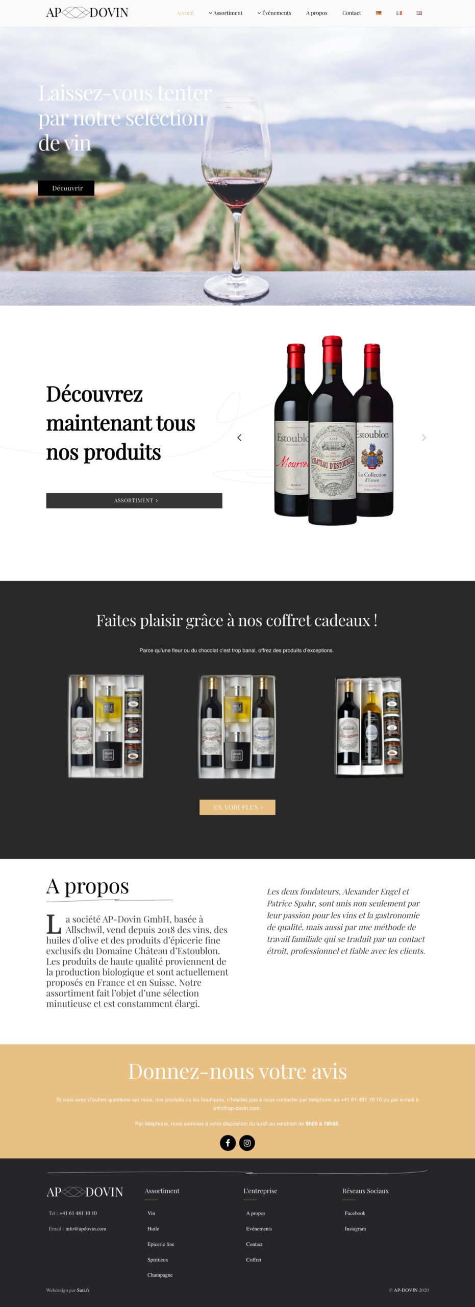 Landing-page-websuti.ch
